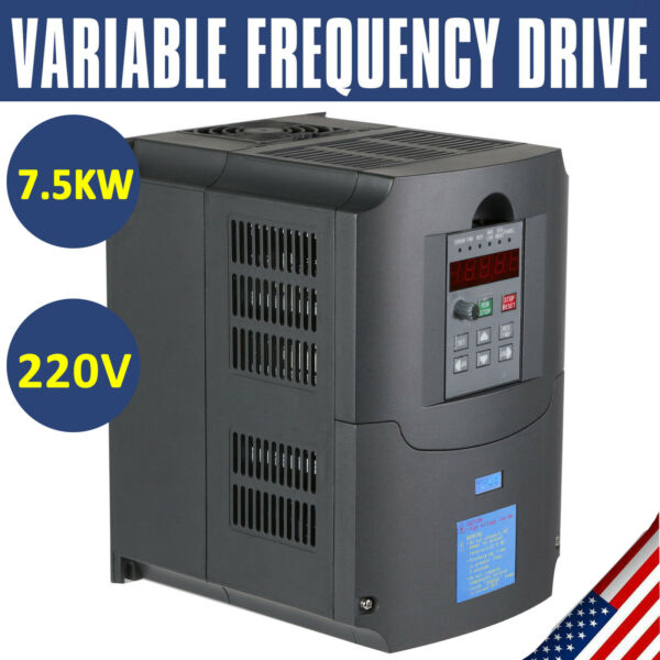 Single To 3 Phase 7.5KW 10HP 220V Variable Frequency Drive Inverter CNC VFD VSD $168.90