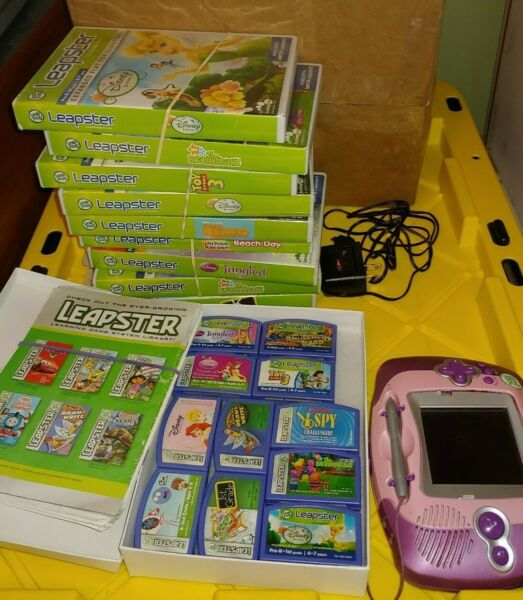Huge Leap Frog Leapster Game & Cartridge Lot $24.99