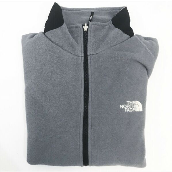 The North Face Mens Womens Full Zip Fleece Jacket Gray Size M Unisex 10188 USA $29.99