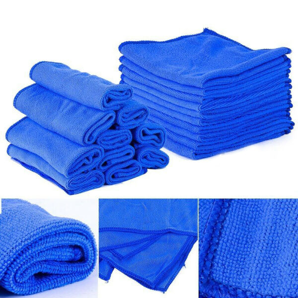 10pcs Microfibre Detailing Duster Cloths Washing Towels Car Cleaning Accessories