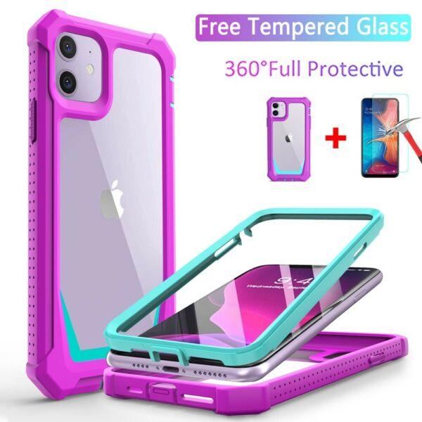 For iPhone 11 Pro Max XS XR 7 8 Plus SE2 Cover New Shockproof Hybrid Case Cover