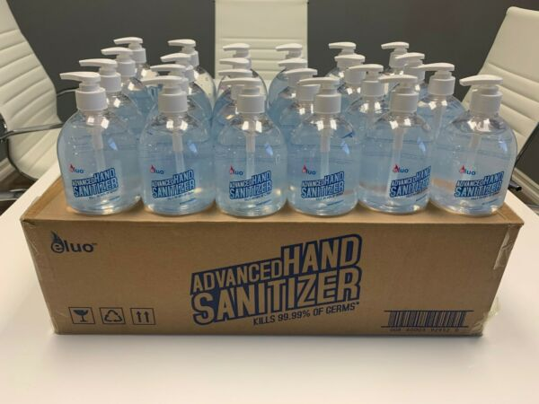Pack Of 8 Bottles 16.9oz Hand Sanitizer Gel 70% Alcohol Better Value Than Purell