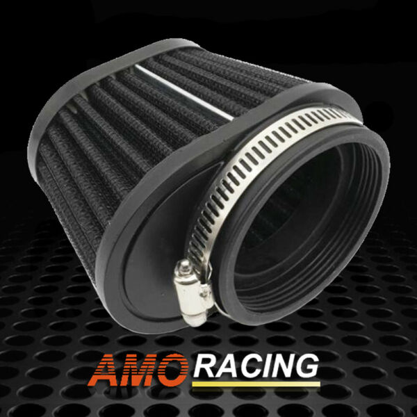 55mm Air Filter Cold Air Intake High Flow Cone Filter Fits Motor Car Minibike