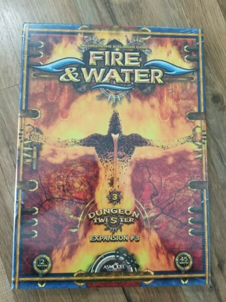 Dungeon Twister: Fire amp; Water Expansion 3 New In Shrink OOP $55.00