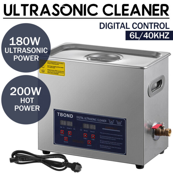 New 6L Ultrasonic Cleaner Stainless Steel Industry Heated Heater w Timer $98.50