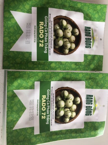 White Egg Plant Ca Phao Trang Seed 2 Package $11.00