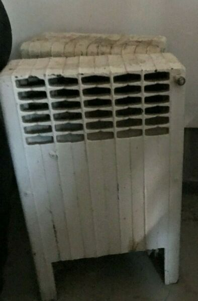 One 1 Small Cast Iron Radiator Heater 20quot; high 12quot; wide 5quot; deep $150.00