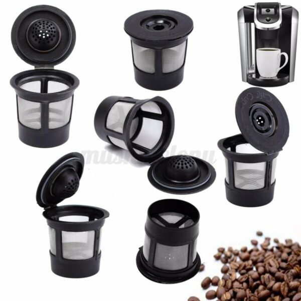 6Pcs Reusable Refillable K Cup Coffee Filter Pod Fit For Keurig K45 amp; K65 Coffee