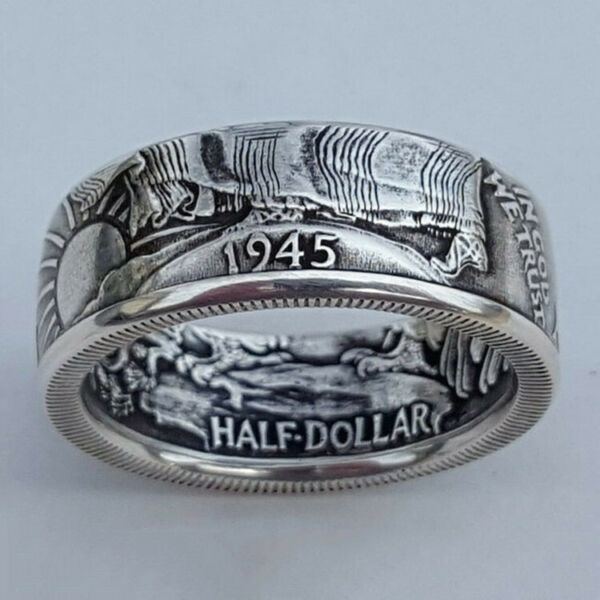 Fashion 925 Silver Rings for Men Jewelry Party Rings Free Shipping Size 7 13