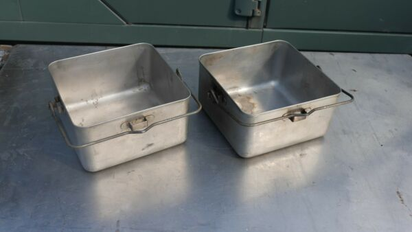 British Army Stainless Cooking Set For No 2 No 12 Cooker. Field Kitchen
