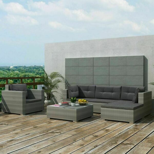17 PCS Patio Furniture Sectional Sofa Set Rattan Wicker Cushioned Couch Outdoor $811.02