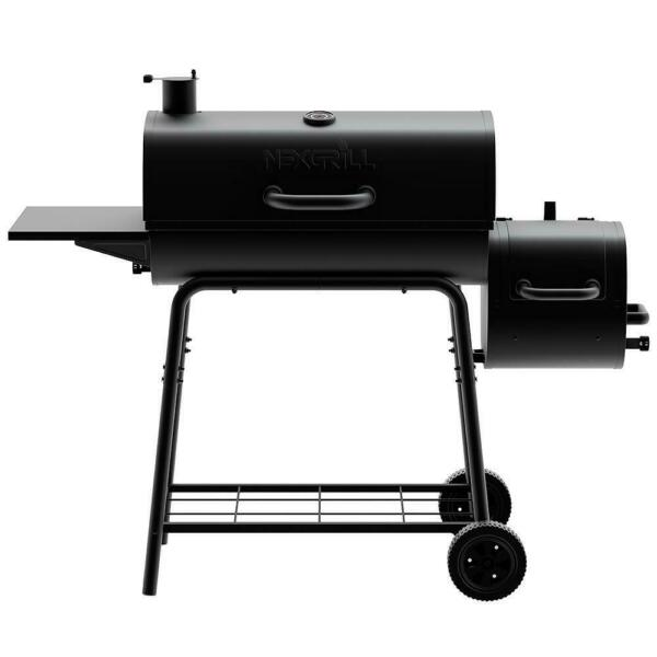 Charcoal Grill Smoker Barrel Outdoor Cooking Heavy duty Steel Construction Home