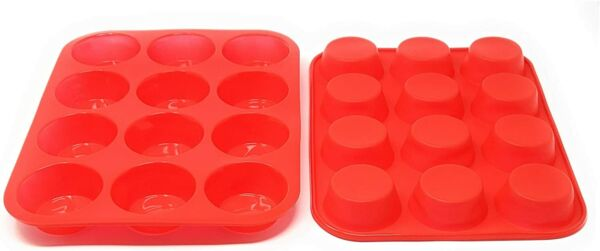 Seacoast Reusable Silicone Baking Pan for Cupcake Muffin Bread Cake and