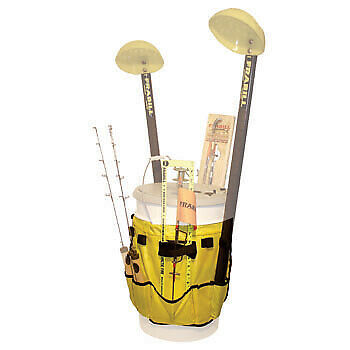 Frabill Pail Pack Ice Fishing Bucket Saddle Bag with Rod Holder 1655