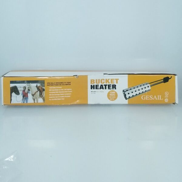 Gesail 1500W Electric Immersion Heater UL-Listed Bucket Water Heater