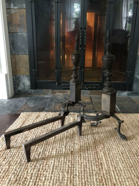 A Pair of Vintage Antique Fireplace ANDIRONS