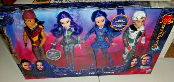 Disney Descendants 3 Isle of the Lost Collection 4-Pack Dolls Box Set Jay Carlos