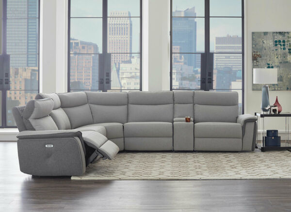 NEW Sofa Sectional Gray Fabric Electric Reclining Living Room Furniture Set IF5K $2544.86