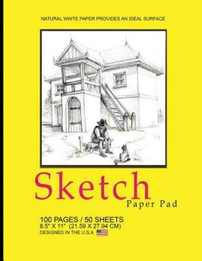 Sketch Paper Pad Yellow Country Cover: 8 5 X 11 21 59 X 27 94 Cm Sketch... $9.84