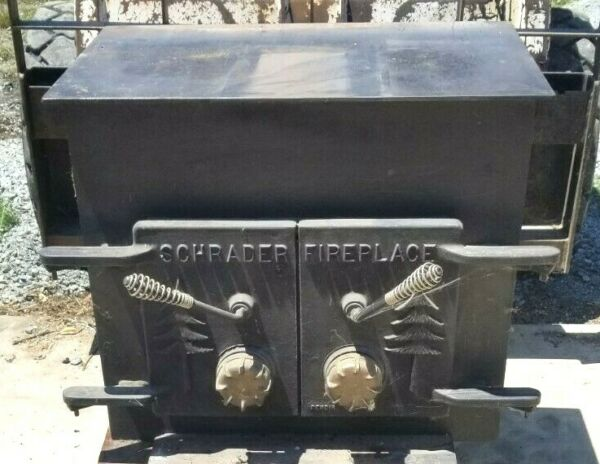 Schrader 34quot; Fireplace Wood Stove insert Great Condition Heater heat $195.00
