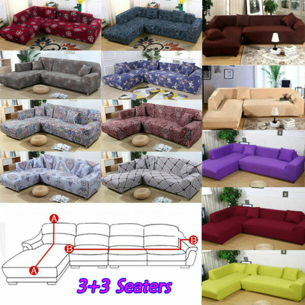 L Shape 33 Seaters Separable Sectional Sofa Slipcovers 3 Seater Sofa Covers