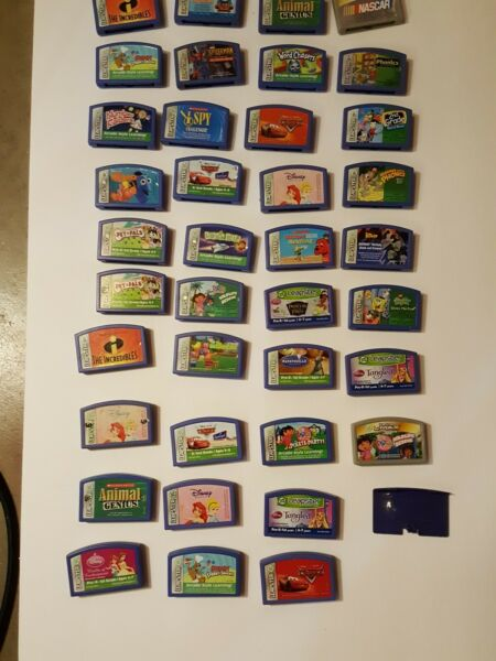 Lot of 38 Leapster Game Cartridges cars disney Incredibles some repeat Leap Frog $7.00
