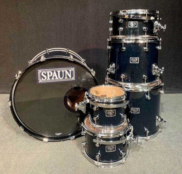 SPAUN Custom Series Drums (maple) 6 piece Black Lacquer - FREE SHIPPING or PU