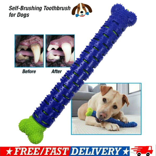 NEW Dog Chew Toy Dog Toothbrush Pets Molar Tooth Cleaning Brushing Stick Doggy $7.85