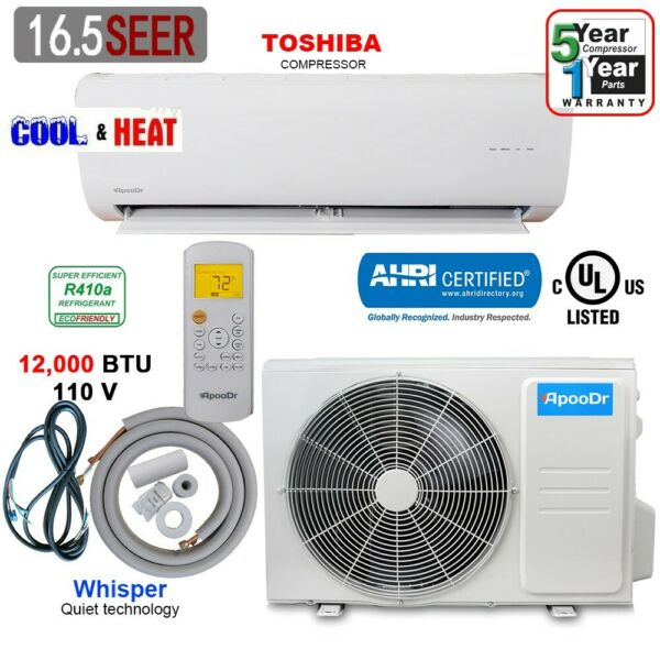 12000 BTU Ductless Air Conditioner Heat Pump Mini Split 110V 1 Ton With KIT $478.00