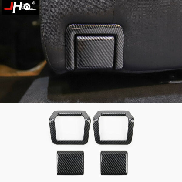 ABS Carbon Grain Rear Seat Handle Overlay Cover Trim for Toyota Tundra 2014 2020 $18.99