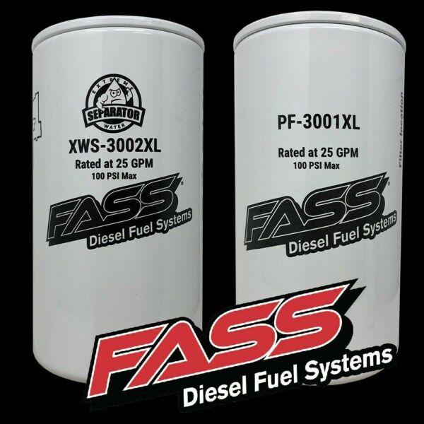 FASS Titanium Fuel Filter Package XWS 3002XL PF 3001XL ** Replaces FF 3003 ** $69.99