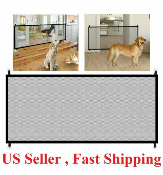 Baby Pets Dog Cat Safety Gate Mesh Fence Home Kitchen Net Portable Guard Indoor $11.95
