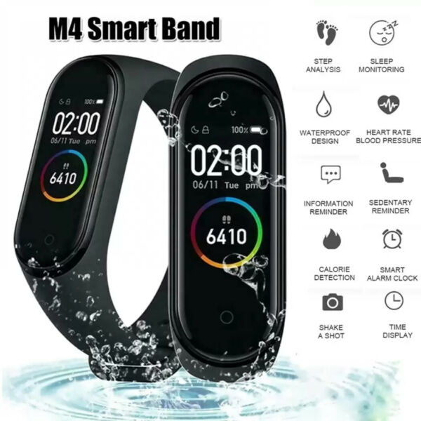 M4 Smart Watch Heart Rate Blood Pressure Monitor Sport Band Wristband Tracker $6.99