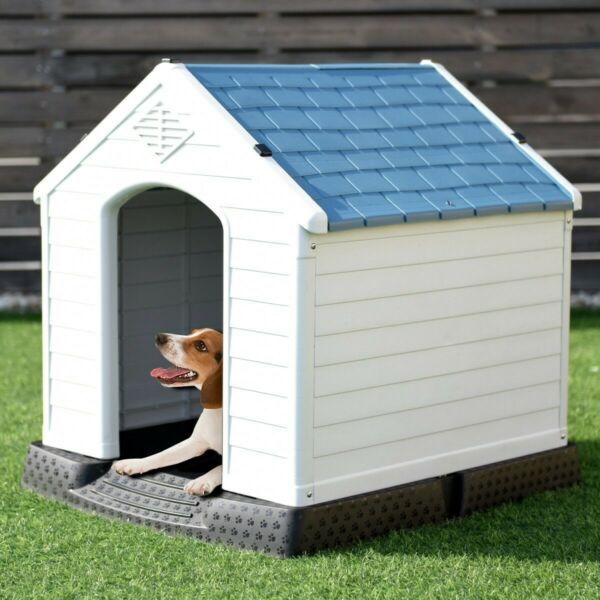 Pet Dog House Puppy Shelter Outdoor Plastic Waterproof Ventilated Safety $88.69