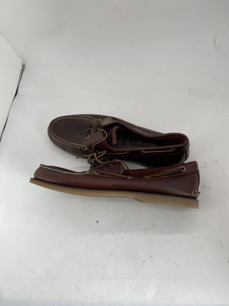 Men#x27;s Timberland 13 2 Eye Boat Shoe Brown Root Beer Smooth 25077 V482 $49.99