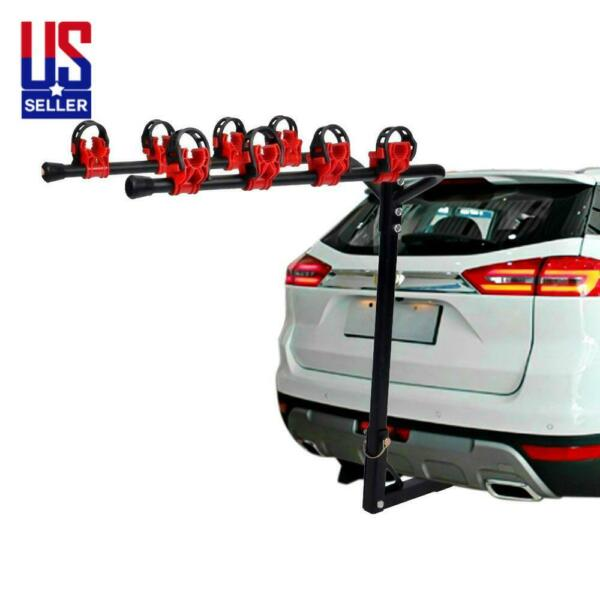 4 Bike Rack Bicycle Carrier Hitch Receiver Heavy Duty 2 Mount Cars Trucks SUV $56.99