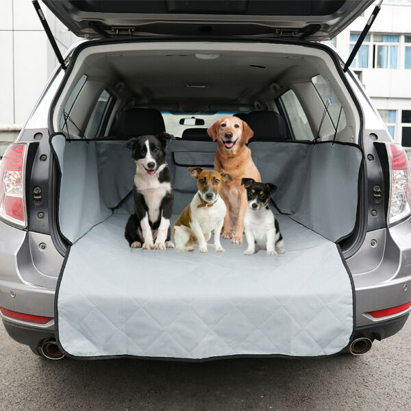 Pet Dog Car SUV Seat Cover Quilted Rear Back Trunk Waterproof Travel Protect Mat $26.99