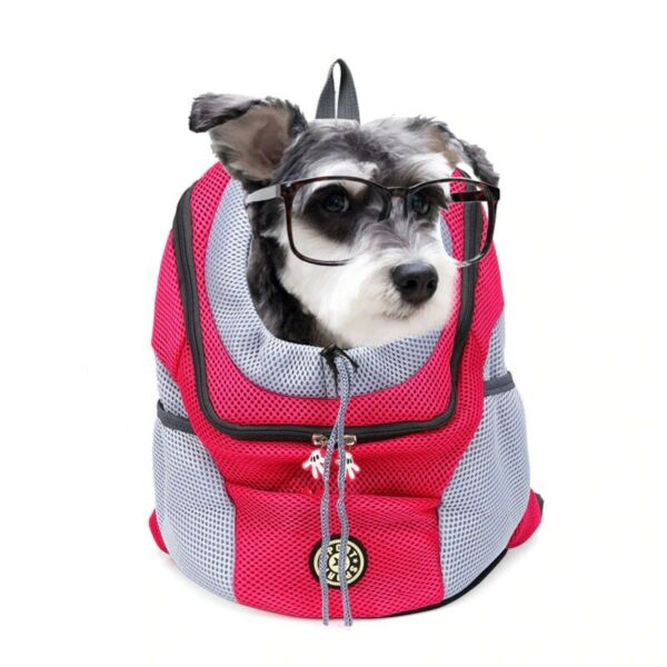 Double Shoulder Travel Mesh Backpack Head outdoor Pet Dog Cat Carrier Dog Bag $24.55