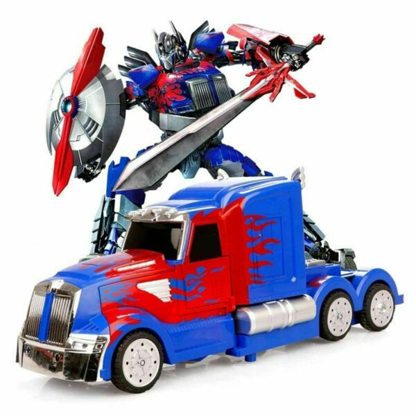 Transformers Prime Bump And Go Car LED Autobot Truck Light Up Toy Action Sound