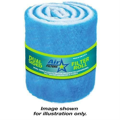 10 Feet of Blue and White Air Filter Media Roll MERV6 Polyester Media 12quot; Wide $11.50