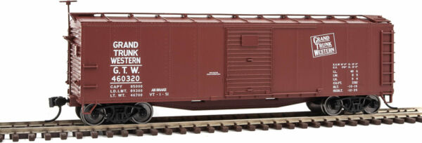 Walthers HO Scale 40#x27; Rebuilt Steel Boxcar Grand Trunk Western GTW #460320 $21.99