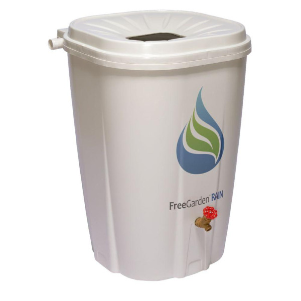 55 Gal Water Storage Drum Rain Barrel Garden Insect Proof Collect Spigot Large $179.62