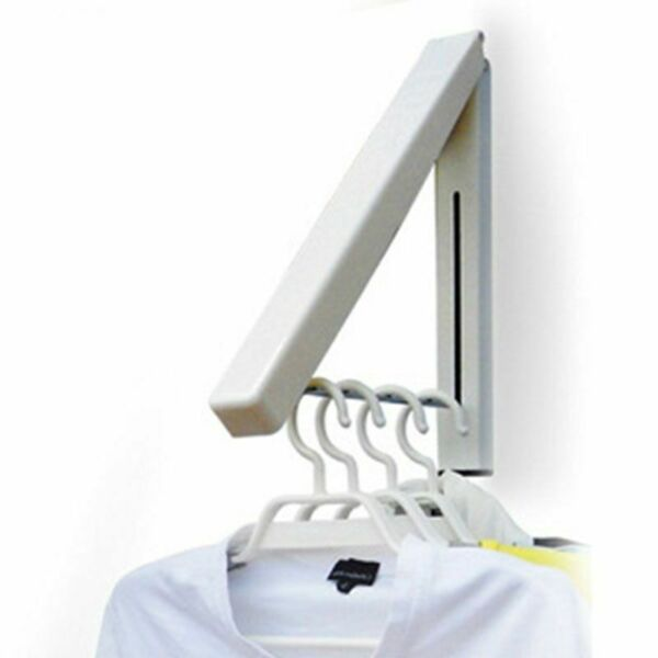 Retractable Wall Mount Folding Clothes Hanger Stainless Steel Towel Rack Holder $21.99