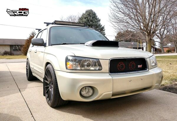 RPG STi Large 4quot; Carbon Hood Scoop Upgrade for 03 08 Subaru Forester XT SG5 SG9 $250.00
