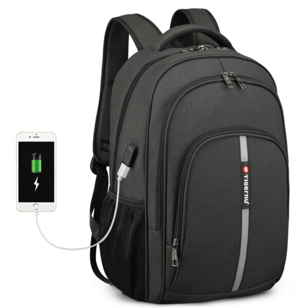 Waterproof 15.6quot; Laptop Backpack Heavy duty Bookbag School Travel Bag USB Port $25.59