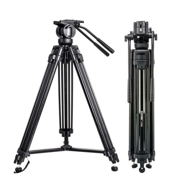 ZOMEI Professional Heavy Duty DV Video Camera Tripod with Fluid Pan Head VT666