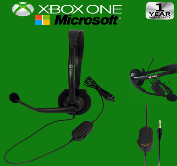 New OFFICIAL Microsoft XBOX ONE Gaming Wired Headset 3mm Jack Original OEM