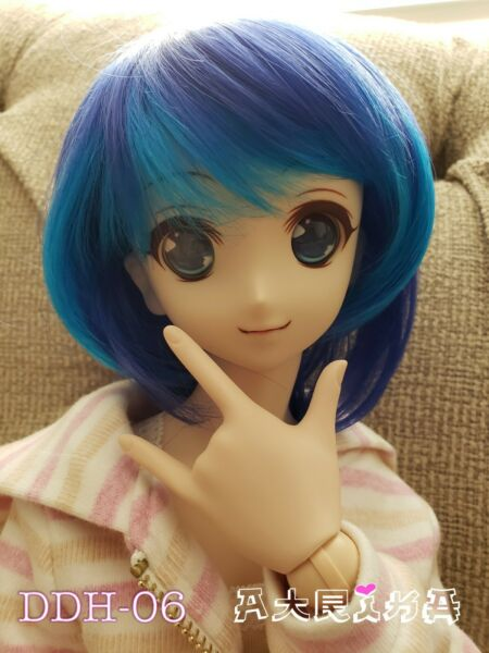 Volks Dollfie Dream NS 06 HEAD with face up eyes and wig