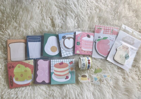 Food Stationary Set 16 Pieces $4.50