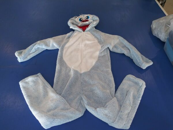 Briefly Stated Men#x27;s Sz L 42 44 YETI Union Suit Hooded One Piece PAJAMAS. cost 1 $23.00